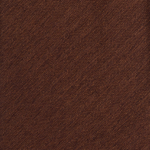 KITON Napoli Hand-Made Seven Fold Brown Herringbone Textured Silk Tie NEW