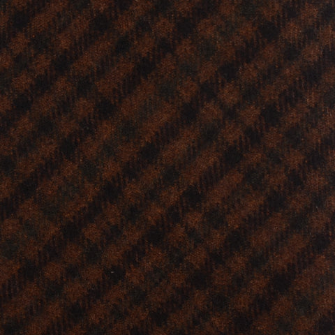 KITON Napoli Hand-Made Seven Fold Brown Plaid Cashmere Tie NEW