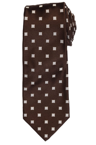 KITON Napoli Hand-Made Seven Fold Brown Silk Tie NEW