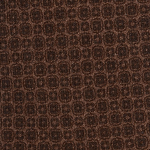 KITON Napoli Hand-Made Seven Fold Brown Wool-Silk Floral Tie NEW