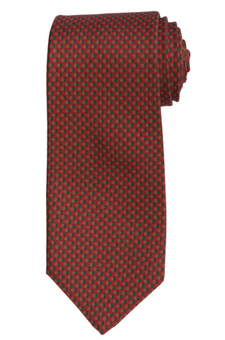 KITON Napoli Hand-Made Seven Fold Burgundy Silk Tie NEW