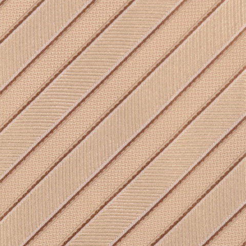 KITON Napoli Hand-Made Seven Fold Cream Striped Silk Tie NEW