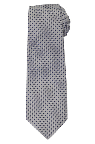 KITON Napoli Hand-Made Seven Fold Gray Medallion Silk Tie NEW