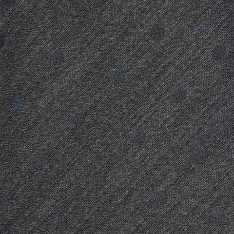 KITON Napoli Hand-Made Seven Fold Gray Polka-Dot Silk Tie NEW
