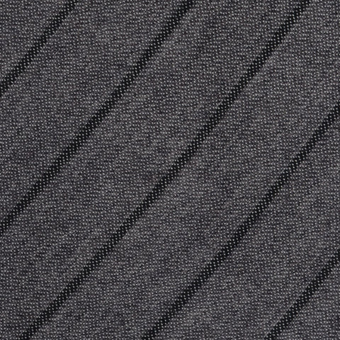 KITON Napoli Hand-Made Seven Fold Gray Striped Soft Silk Tie NEW