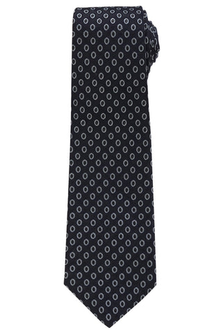KITON Napoli Hand-Made Seven Fold Gray Woven-Dot Silk Tie NEW