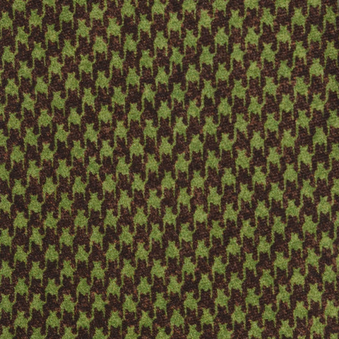 KITON Napoli Hand-Made Seven Fold Green-Brown Silk Tie NEW