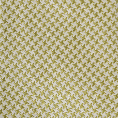 KITON Napoli Hand-Made Seven Fold Green-White Houndstooth Silk Tie NEW