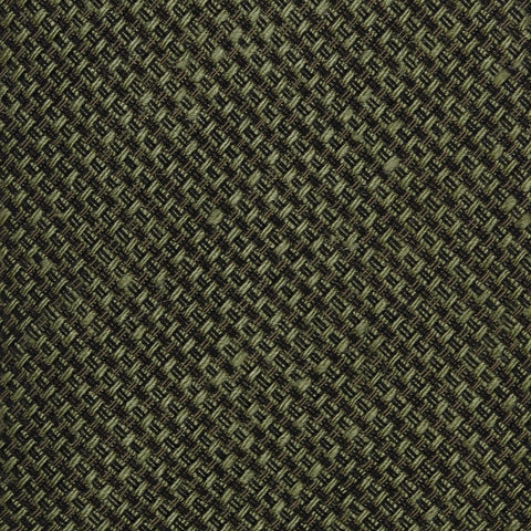 KITON Napoli Hand-Made Seven Fold Green Plain Weave Silk Tie NEW