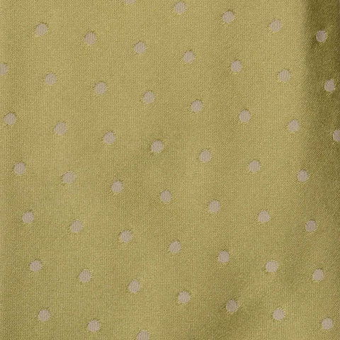 KITON Napoli Hand-Made Seven Fold Green Polka Dot Satin Silk Tie NEW - SARTORIALE - 4
