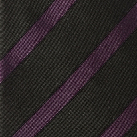 KITON Napoli Hand-Made Seven Fold Green Regimental Striped Silk Tie NEW - SARTORIALE - 3