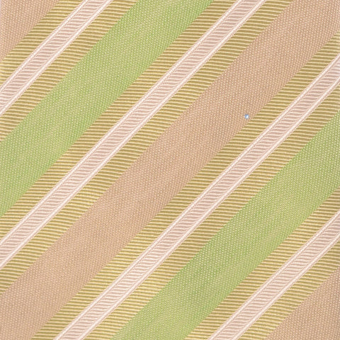 KITON Napoli Hand-Made Seven Fold Green Rope Striped Silk Tie NEW - SARTORIALE - 4