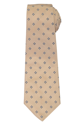 KITON Napoli Hand-Made Seven Fold Ivory Floral Silk Tie NEW