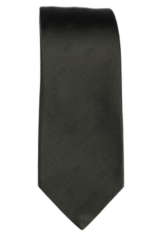 KITON Napoli Hand-Made Seven Fold Olive Textured Polka-Dot Satin Silk Tie NEW