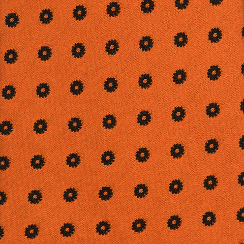 KITON Napoli Hand-Made Seven Fold Orange Floral Silk Tie NEW