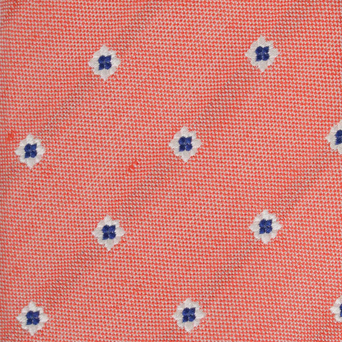 KITON Napoli Hand-Made Seven Fold Pink Floral Silk Tie NEW