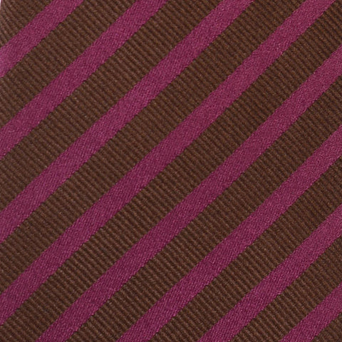 KITON Napoli Hand-Made Seven Fold Purple-Brown Diagonal Striped Silk Tie NEW - SARTORIALE - 4