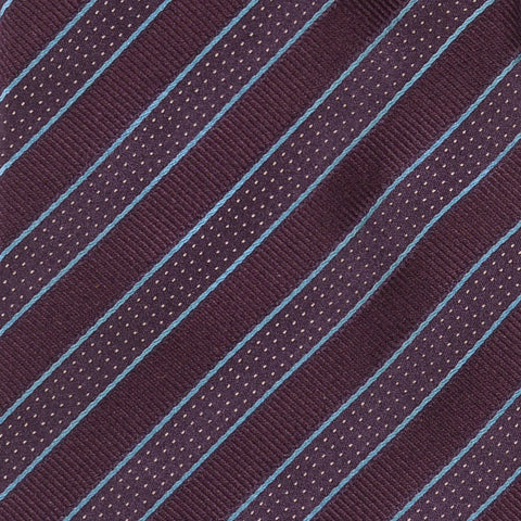 KITON Napoli Hand-Made Seven Fold Purple Diagonal Repp Striped Silk Tie NEW - SARTORIALE - 4