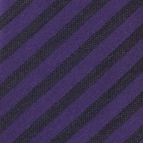 KITON Napoli Hand-Made Seven Fold Purple Diagonal Striped Silk-Wool Tie NEW - SARTORIALE - 4