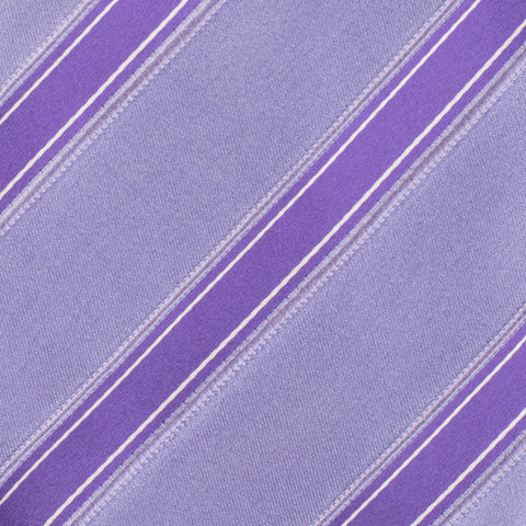 KITON Napoli Hand-Made Seven Fold Purple Regimental Striped Silk Tie NEW