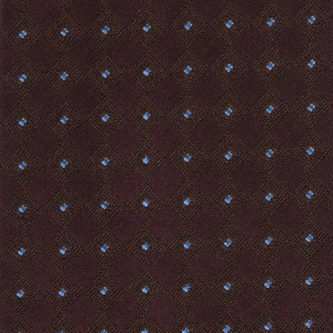 KITON Napoli Hand-Made Seven Fold Purple Square Medallion Silk Tie NEW