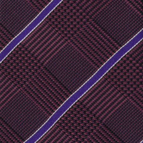KITON Napoli Hand-Made Seven Fold Purple Tartan Plaid Silk Tie NEW