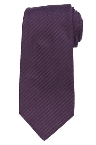 KITON Napoli Hand-Made Seven Fold Purple Textured Silk Tie NEW