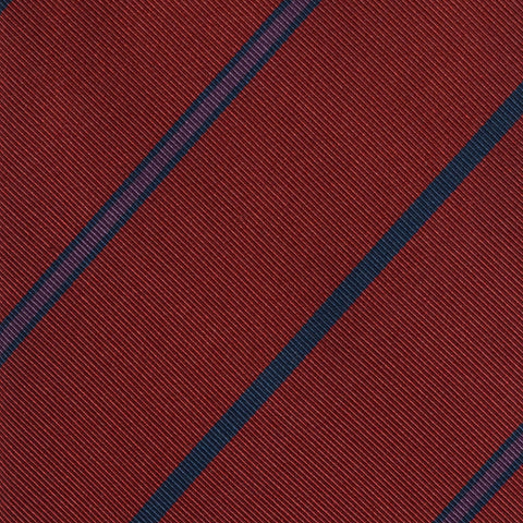 KITON Napoli Hand-Made Seven Fold Red Diagonal Striped Silk Tie NEW