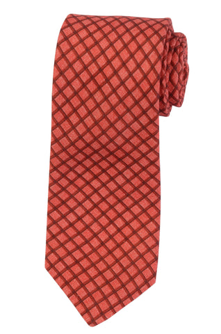 KITON Napoli Hand-Made Seven Fold Red Plaid Silk Tie NEW - SARTORIALE - 1