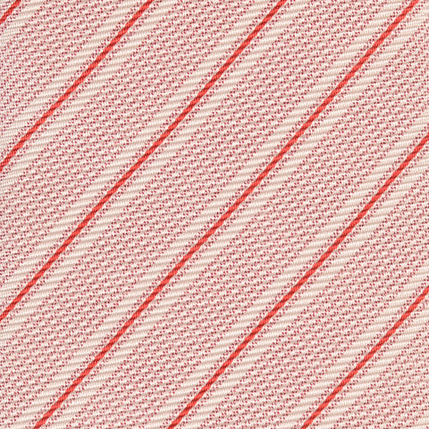 KITON Napoli Hand-Made Seven Fold Red Regimental Striped Silk Tie NEW - SARTORIALE - 3