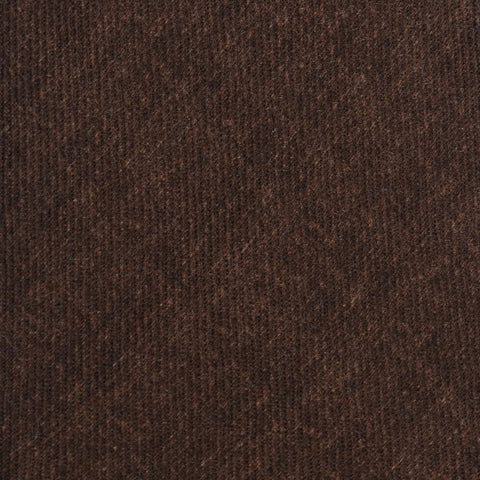 KITON Napoli Hand-Made Seven Fold Solid Brown Wool-Silk Tie NEW