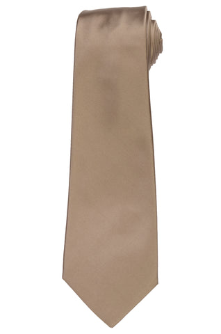KITON Napoli Hand-Made Seven Fold Solid Gold Satin Silk Tie NEW
