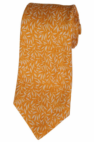 KITON Napoli Hand-Made Seven Fold Yellow Silk Tie NEW - SARTORIALE - 1