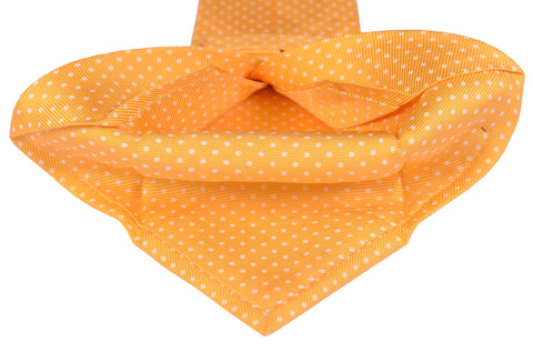 KITON Napoli Hand-Made Seven Fold Yellow Textured Polka-Dot Silk Tie NEW - SARTORIALE - 2