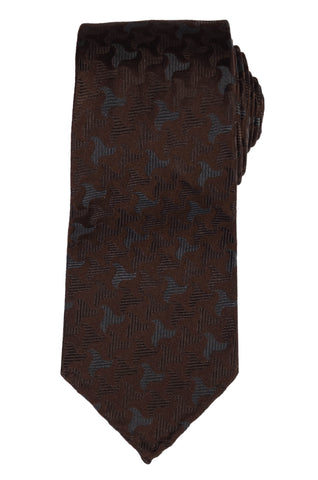 "KITON Napoli Hand-Roll Seven Fold ""CIPA 1960"" Brown Silk Unlined Tie NEW"