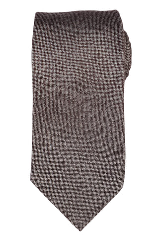 KITON Napoli Hand-Roll Seven Fold Gray Silk-Cashmere-Cotton Unlined Tie NEW