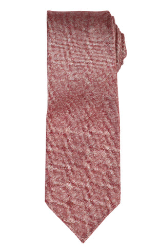 KITON Napoli Hand-Roll Seven Fold Red Silk-Cashmere-Cotton Unlined Tie NEW