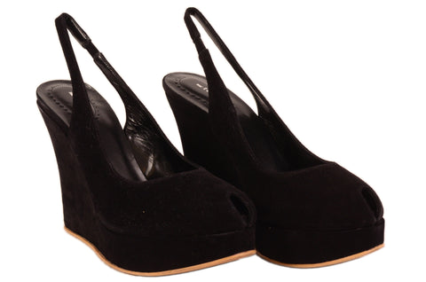 KITON Napoli Hand Made Black Suede Leather Platform Heels EU 41 NEW US 10.5 - SARTORIALE - 1