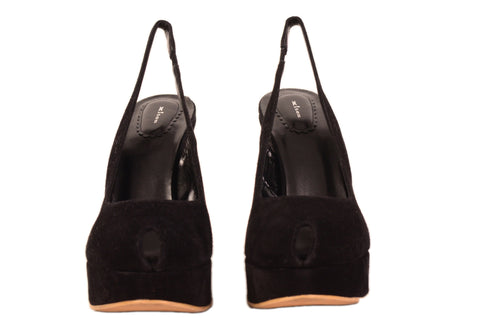 KITON Napoli Hand Made Black Suede Leather Platform Heels EU 41 NEW US 10.5 - SARTORIALE - 2