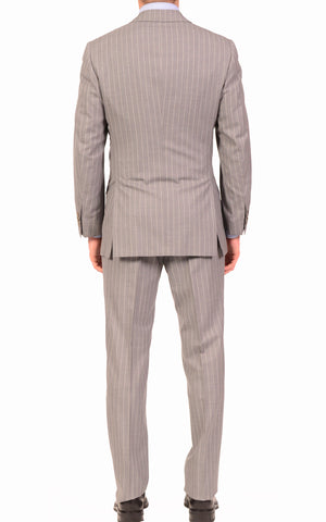 KITON Napoli Hand Made Classic Gray Super 150's Wool Business Suit 48 NEW US 38 - SARTORIALE - 2