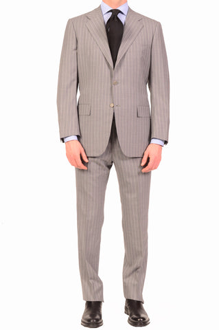 KITON Napoli Hand Made Classic Gray Super 150's Wool Business Suit 48 NEW US 38 - SARTORIALE - 1