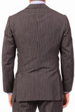 KITON Napoli Hand Made Gray Striped Cashmere Wool Suit EU 47 NEW 36 38 R9 Slim - SARTORIALE - 4