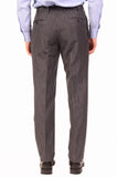 KITON Napoli Hand Made Gray Striped Cashmere Wool Suit EU 47 NEW 36 38 R9 Slim - SARTORIALE - 6