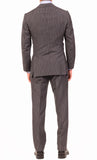 KITON Napoli Hand Made Gray Striped Cashmere Wool Suit EU 47 NEW 36 38 R9 Slim - SARTORIALE - 2
