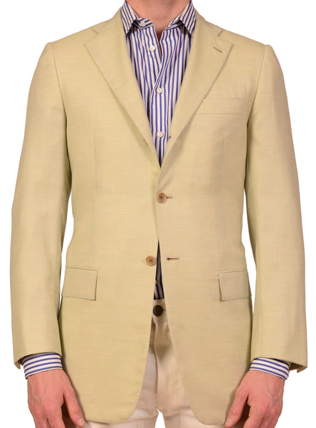 "KITON Napoli Hand Made Green Cashmere Jacket 38 40 NEW 50 R8 Slim ""Harry's"" - SARTORIALE - 1"