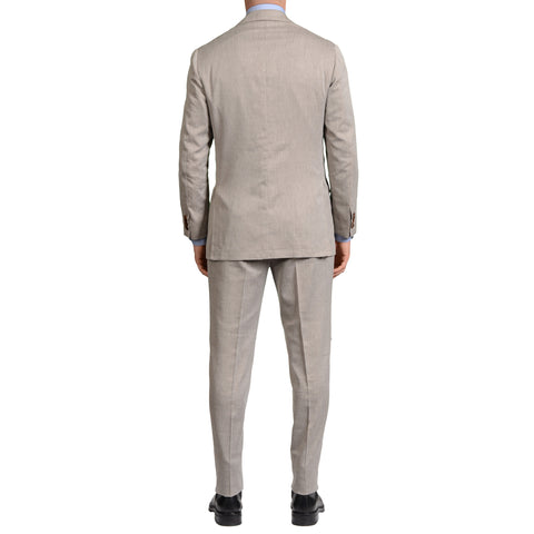 KITON Napoli Hand Made Gray Cashmere-Cotton-Linen-Silk Suit 50 NEW 38 40