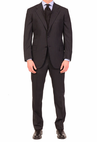 KITON Napoli Hand Made Navy Blue Super 180's Wool Business Suit NEW - SARTORIALE - 1