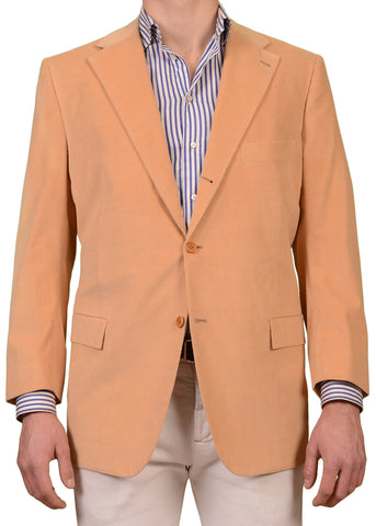 KITON Napoli Hand Made Tan Velvet Jacket  US 46 48 NEW EU 58 R8 Slim Fit