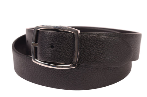 "KITON Handmade Black Scotch Grain Calf Leather Dress Belt 95 cm 38"" NEW With Box - SARTORIALE - 1"