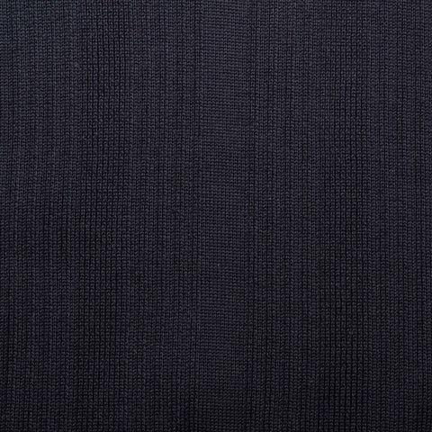 KITON Napoli Handmade Navy Blue Cotton V-Neck Sweater EU 50 NEW US M